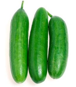 green cucumbers isolated on a white background